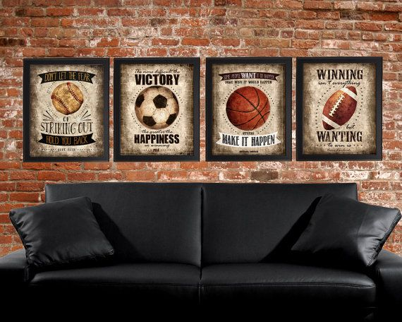 Famous Sports Quotes Set of 4 photo prints Poster Wall