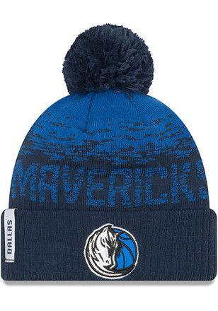 New Era Dallas Mavericks Navy Blue NE16 Sport Knit Hat