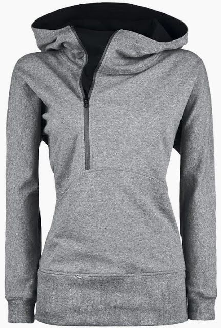 Grey hoodie with inside black side zipper for fall Fun and Fashion Blog