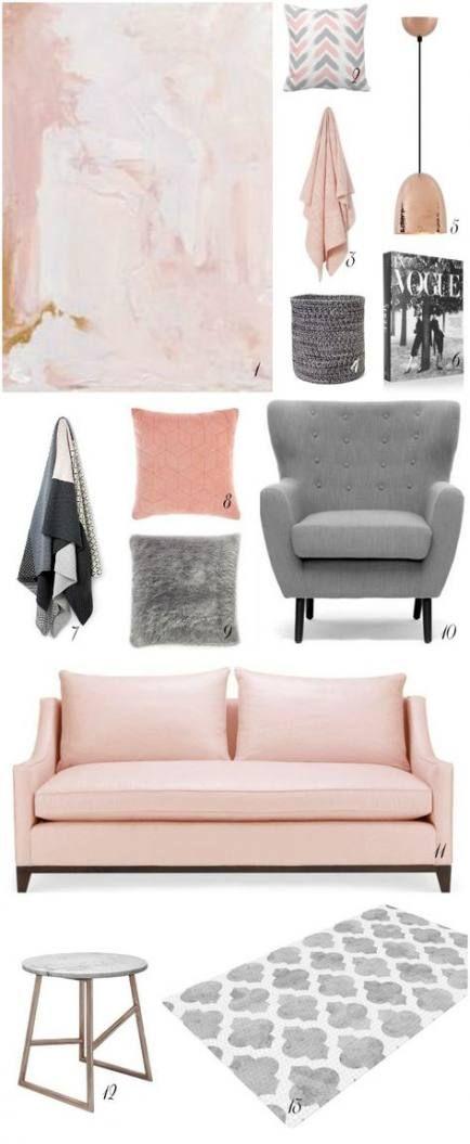 22 ideas living room grey blush rose gold livingroom