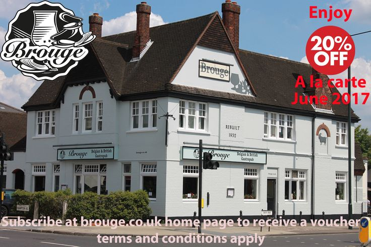 Please Share 20% Off a la carte at Brouge in June 2017 Subscribe to get the voucher by email @brougetw2