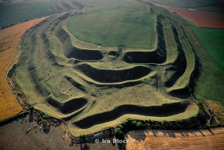 Maiden Castle Iron Age hill Fort Dorset, England