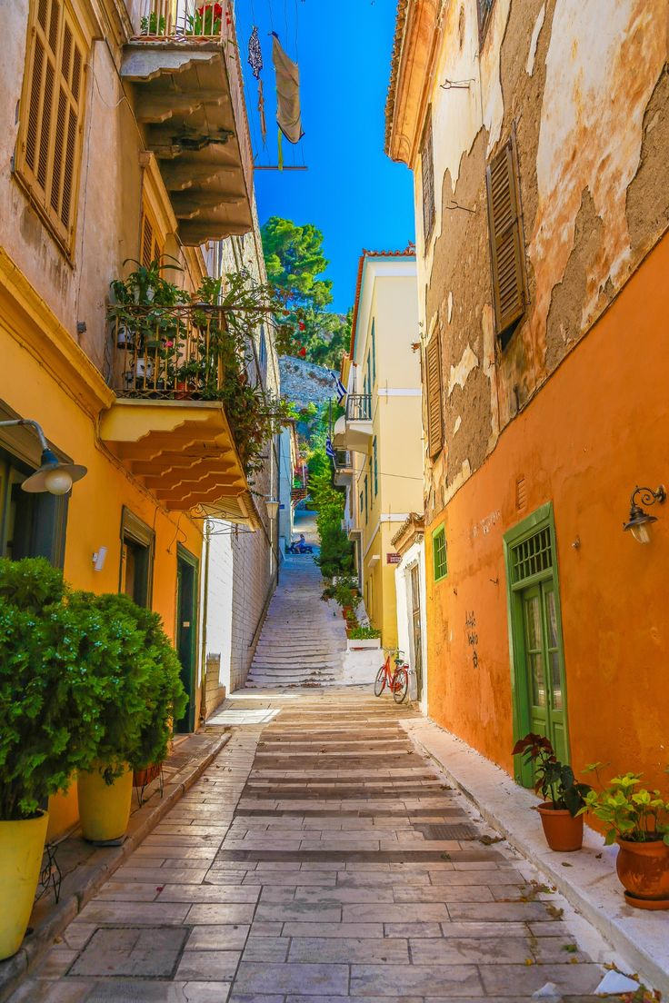 Streets of Poros Island, Greece