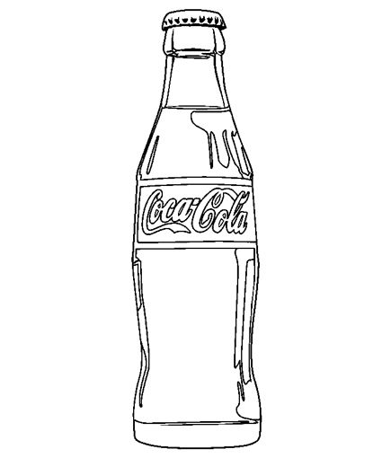 Drinks Coloring Pages Pintores Famosos Botella Para Colorear