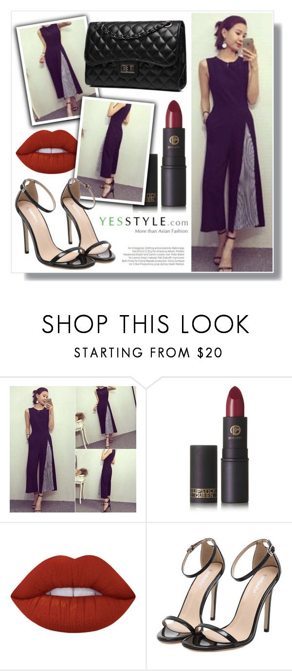"""""""YesStyle - 10% off coupon"""" by amra-sarajlic ❤ liked on Polyvore featuring Lipstick Queen, Lime Crime, Bense Bags, Balenciaga, party, anniversary, celebration and yesstyle"""