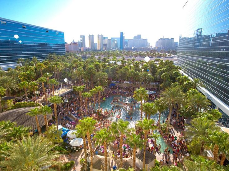 For wild daytime parties, head to the pool at Hard Rock Hotel in Las Vegas