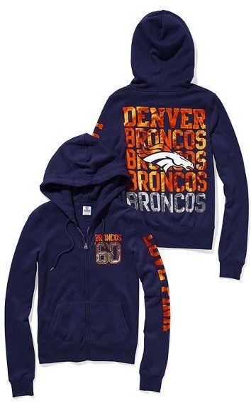 Victoria+Secret+Denver+Broncos | Victoria's Secret Pink® Denver Broncos Bling Zip Hoodie Sold Out ...