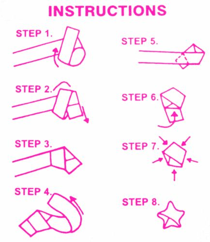 How to make lucky paper stars: The diagram