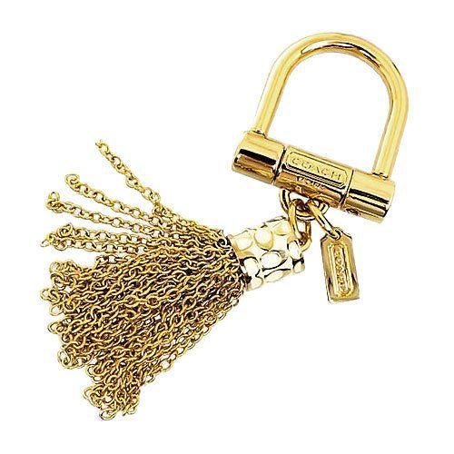 [コーチ] COACH アクセサリー(キーホルダー) F63838 ゴールド シグネチャー タッセル チャーム キーリング レディース [アウトレット品] [ブランド] [並行輸入品]