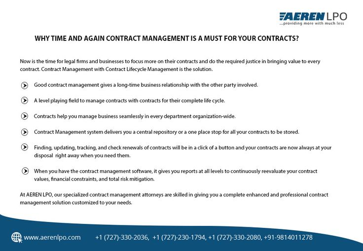 Pin On Contract Management Services