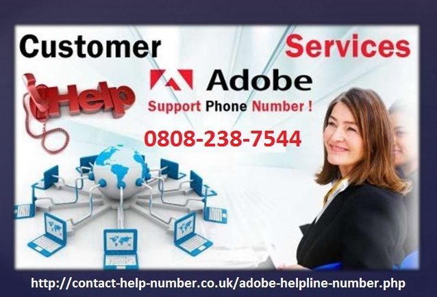 If you have any query related to Adobe PDF, then you don't need to think twice but call atAdobe Customer Service Phone Number UK0808-238-7544 toll freeand you will be assured with instant resolutions on the go. The technical team deployed here is well trained and have utmost knowledge for all the issues you are being confronted to. This service can be availed round the clock.