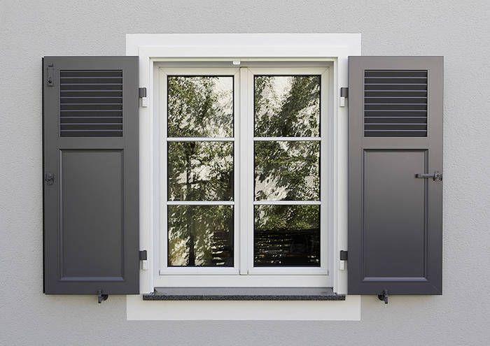 Klappladen Seelinger Bauelemente Haus Fensterladen Alu Fensterladen Fassade Haus