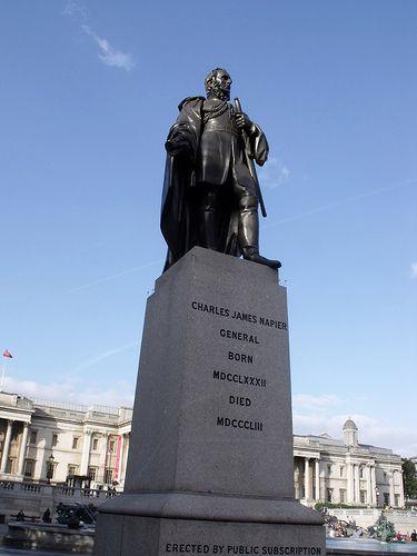 Statue of General Sir Charles James Napier in Trafalgar Square, London