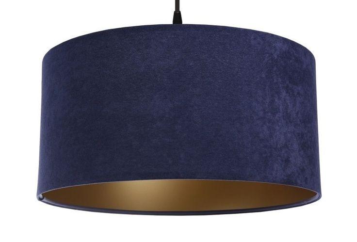 Svítidlo textilní Gloria Dark blue/Gold závěsné