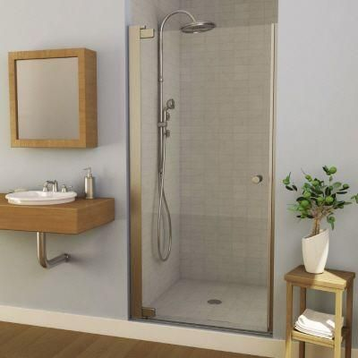 Maax insight 34 1 2 in to 36 1 2 in w swing open shower for Small bathroom updates