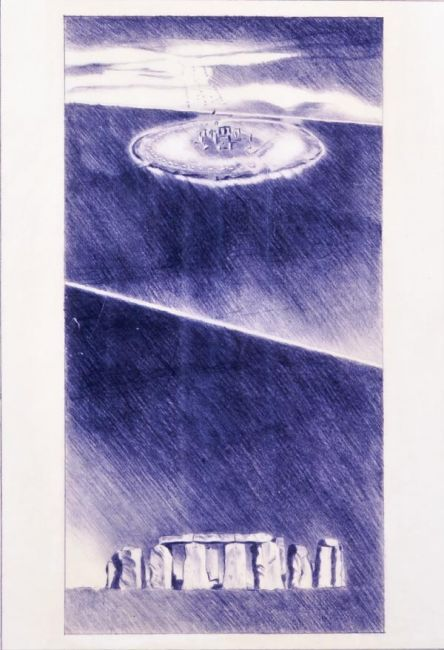 #inspiration #architecture #sketch #drawing Alessandro Anselmi GRAU, senza titolo 1979, disengo a pastello su carta da lucido