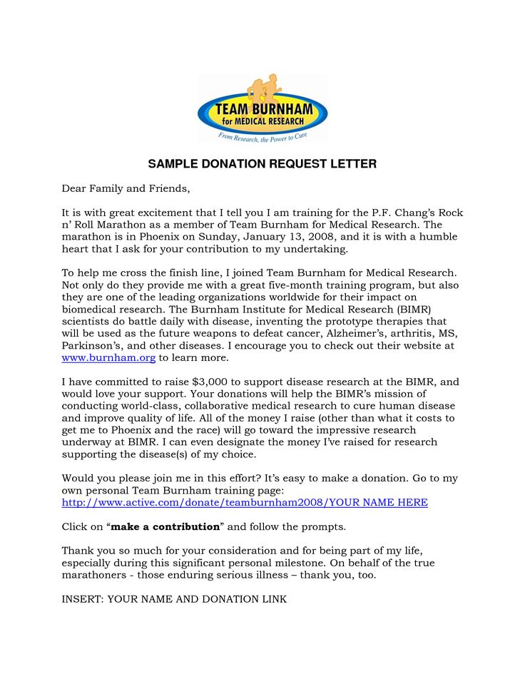 Sample Donation Request Letter Template Cover Latter