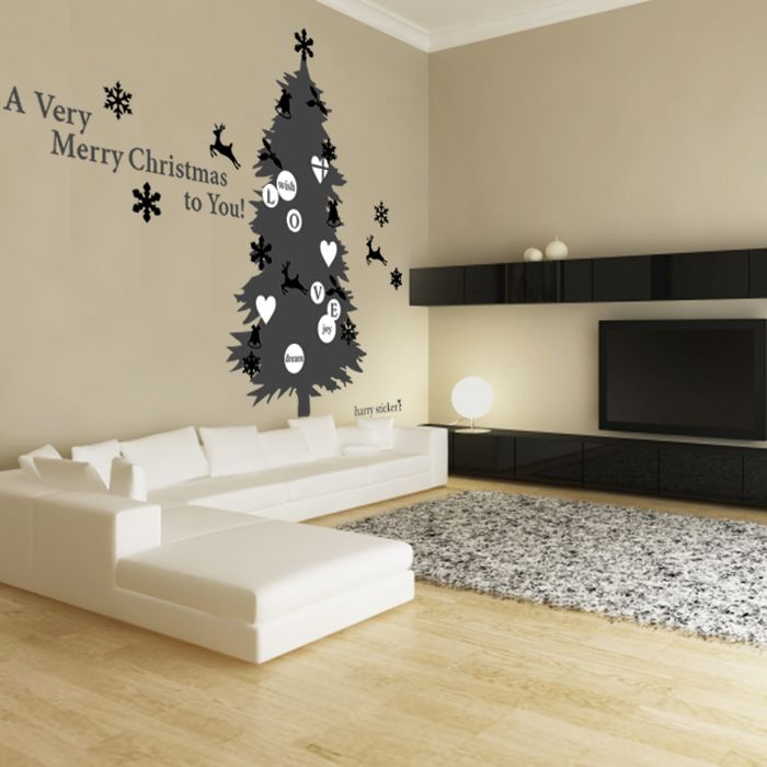 横BIGツリー #ウォールステッカー#クリスマス#サンタクロース#サンタ#ツリー #SantaClaus#Christmas#tree#wallsticker