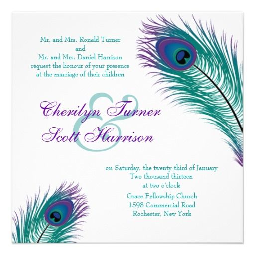 23 best Cheap Peacock Wedding Invitations images on Pinterest ...