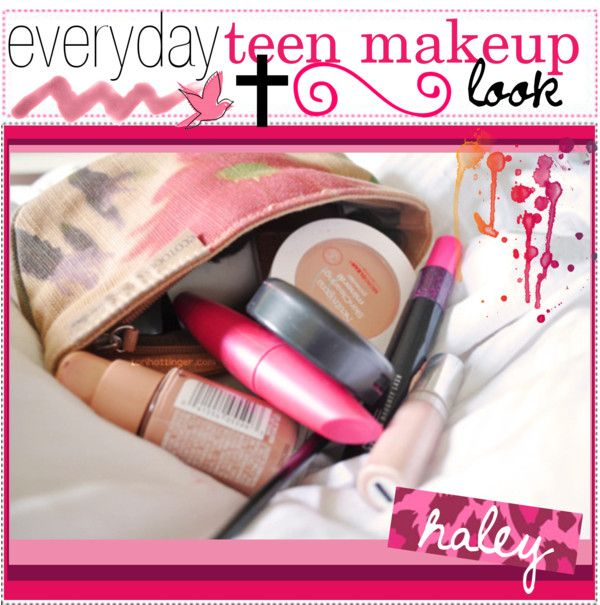 """""""everyday teen makeup look c:"""" by polyvoretipteam ❤ liked on Polyvore"""