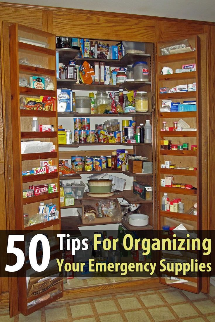 When filling your closets with emergency supplies, it's important to keep everything organized, that way you'll be able to quickly find what you need.