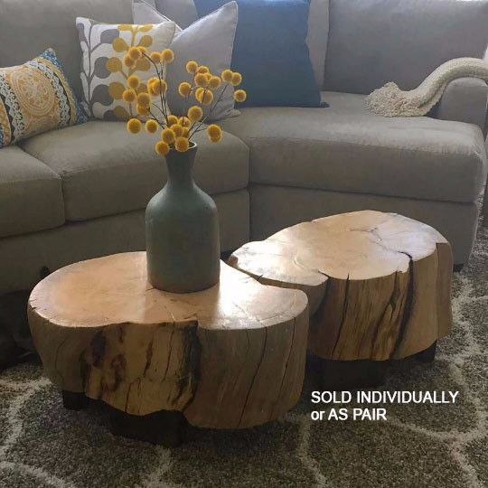 Ellen Style Log Coffee Table Stump Table Stump Stool Log End Table