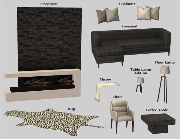192 Best Sims 2 Living Room Images On Pinterest