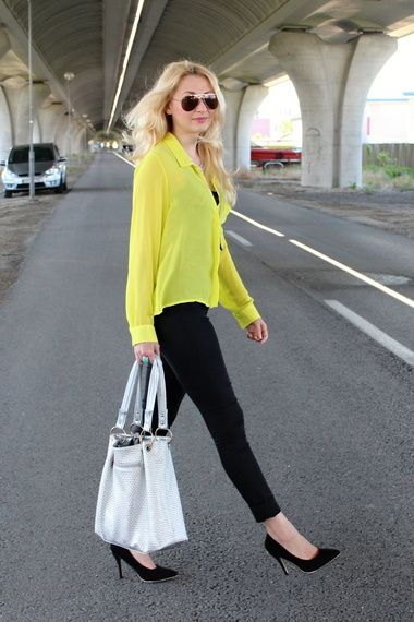 Yellow & Black & Silver | Women's Look | ASOS Fashion Finder: Handbags Pur, Coach Handbags, Designer Handbags, Louisvuitton Handbags, Fashion Design, Design Handbags, Leather Handbags, Around The World, Yellow Black