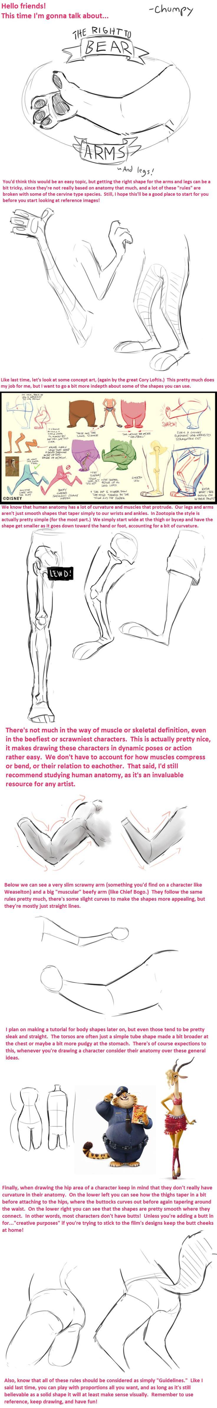 Zootopia anatomy