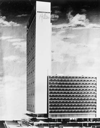 Chevron Hilton Hotel Model Sydney