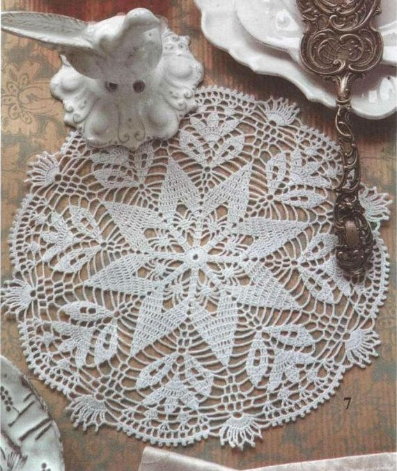 White Crochet Doily, Crochet Lace Doily, Star, Victorian, Rustic, Cottage Chic, Crochet Home Decor via Etsy