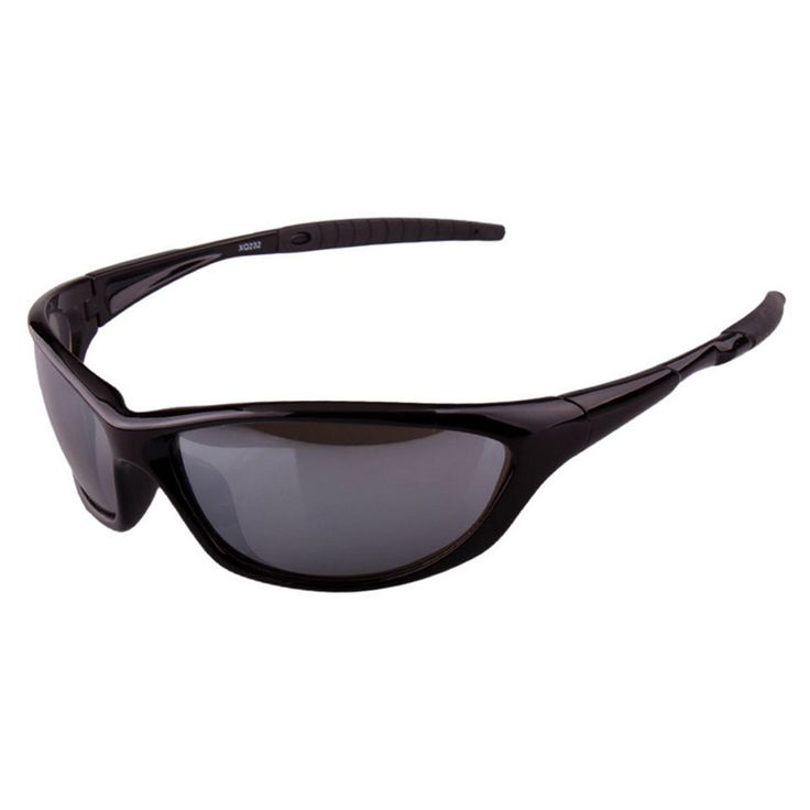 XQ-232 Polarized Glasses Sports Driving Fishing grey glasses with silver