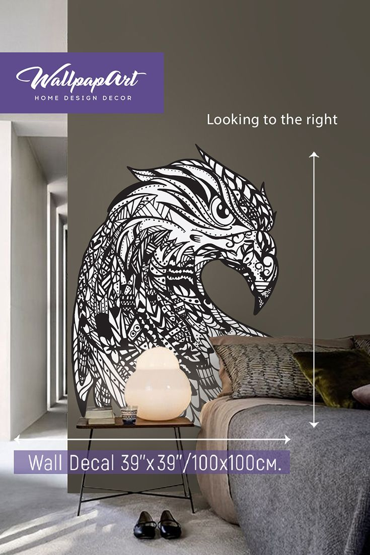 Eagle Eye Self Adhesive Wall Decal, Temporary Peel And Stick Wall Art,  Removable Wall Mural #21