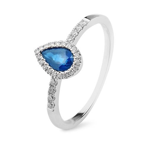 Inel cu safire si diamante - C111