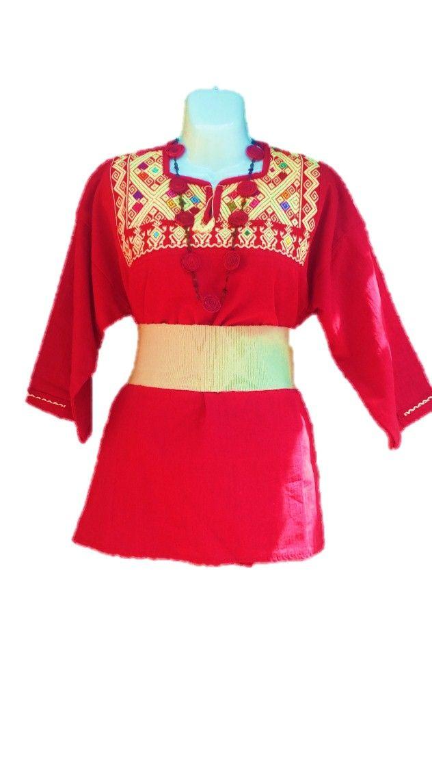 Blusa de manta del estado de Oaxaca, bordado mano $580mxn  Faja: $150 mxn   Collar hecho de cascara de naranja pigmentado color rojo: $90 mxn.