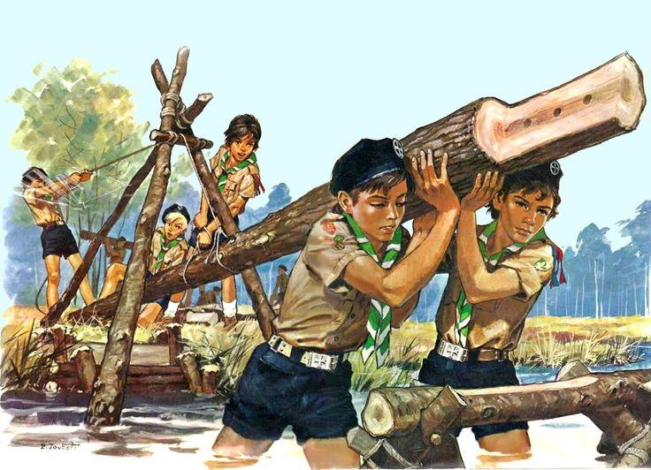 Scouts by artist Pierre Joubert 71