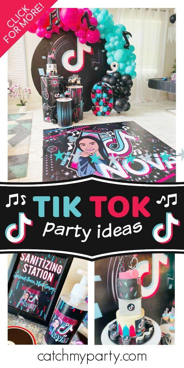 Tik Tok Birthday Nova S Tik Tok Dance Party Catch My Party In 2020 Girls Birthday Party Themes Birthday Party Activities Catch My Party