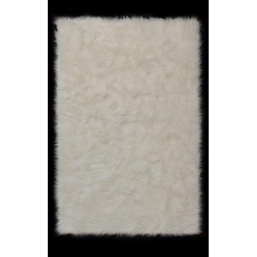Rug Spot Faux Fur White Rug