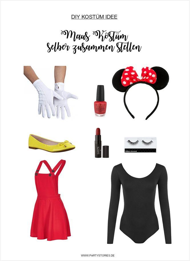 Micky Maus und Minnie Kostüm selber machen
