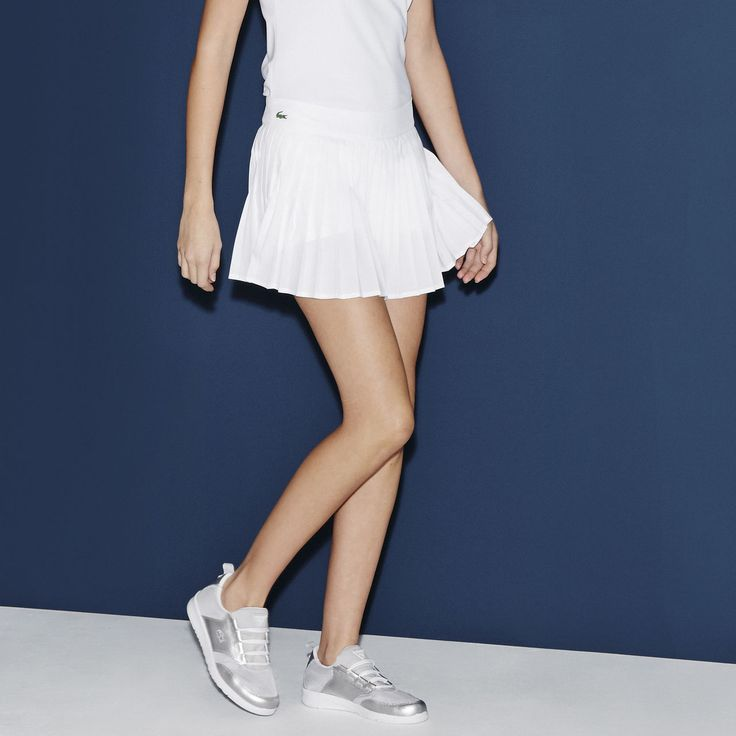 Jupe tennis plissée Lacoste SPORT en jersey technique stretch