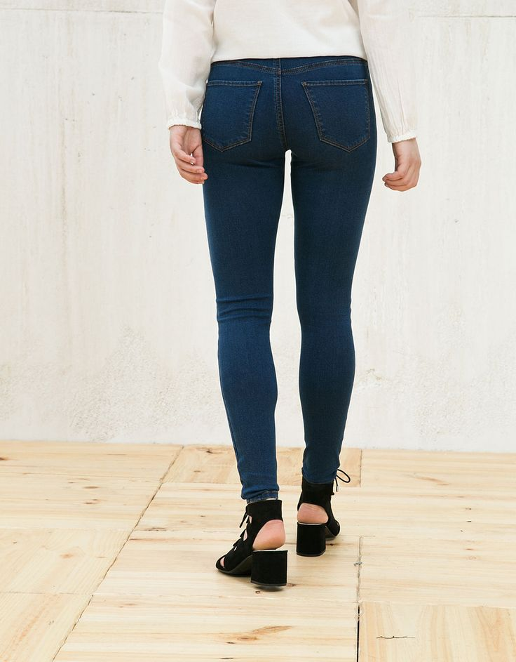 Basic high waist jeans. Discover this and many more items in Bershka with new products every week