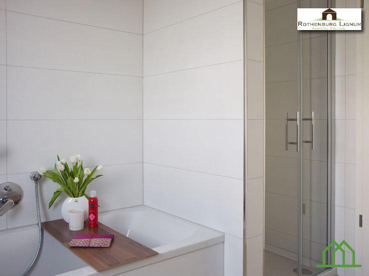 modernes badezimmer im dachgeschoss rothenburg lignum wirbauenmitholz neubau eigentumswohnung mehrfamilienhaus - Badezimmer Holzfliesen