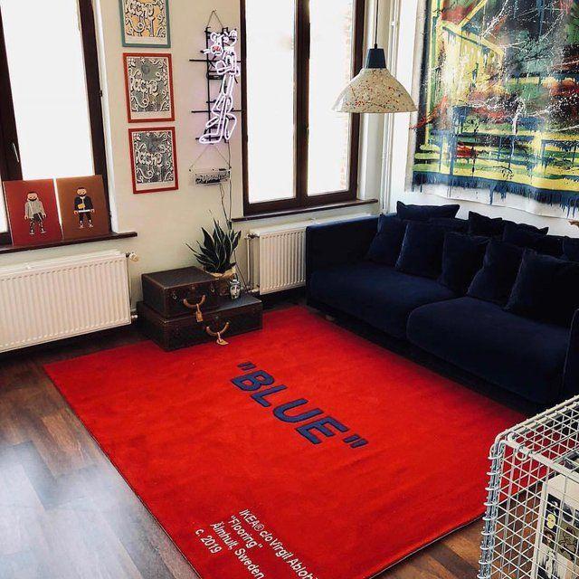 Off White X Ikea Blue Carpet Home Decor Home Room Design Decor #off #white #living #room #furniture