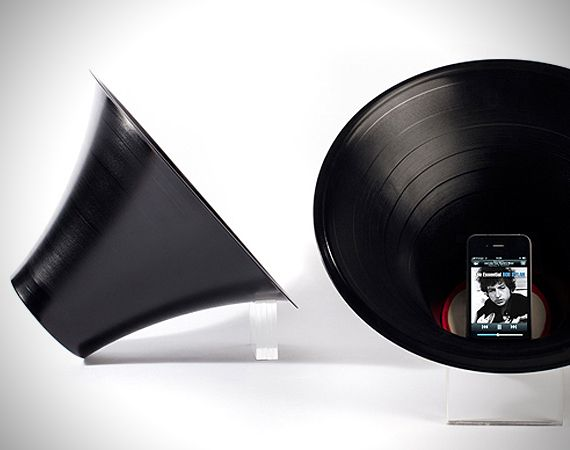 12 inch reshaped record created by British product designer Paul Cocksedge