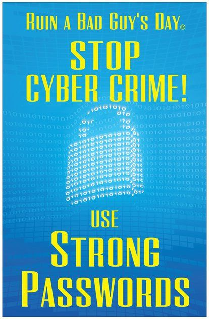 use strong passwords poster | stop cyber crime password security, Presentation templates