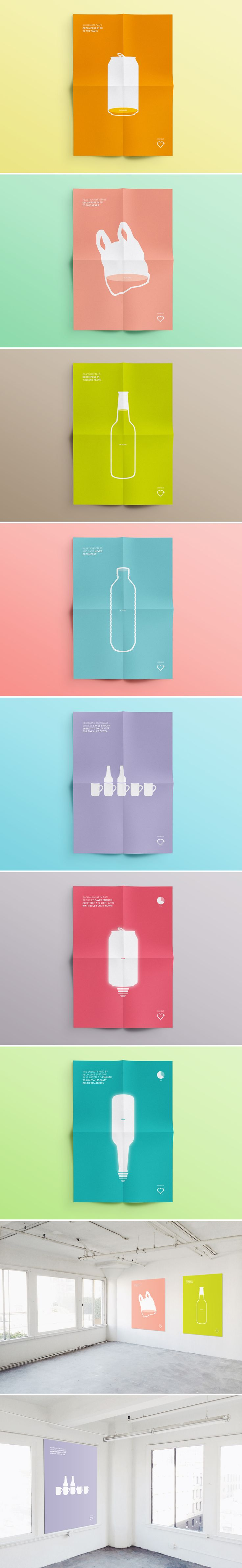 Recycling Posters by Sarita Walsh