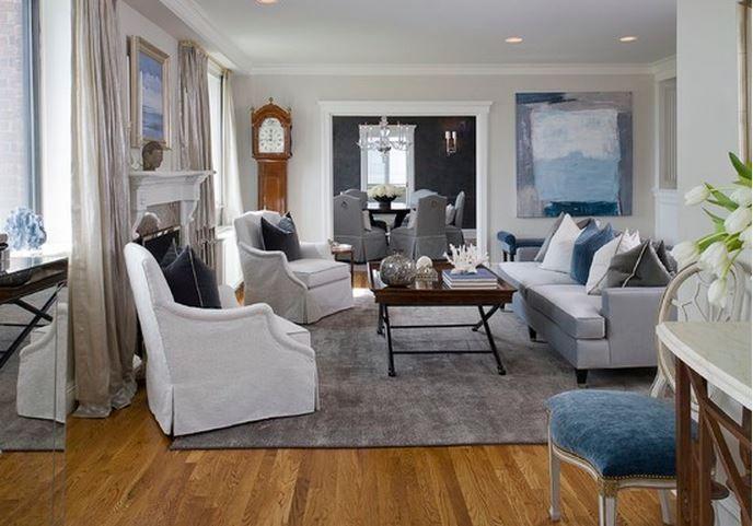 décoration salon gris bleu   My home   Pinterest   Salon gris ...