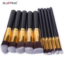 Bluefrag 10 pcs pincéis de maquiagem profissional de qualidade superior macio cosméticos make up brush set kit escova kabuki pincéis de maquiagem atacado(China (Mainland))
