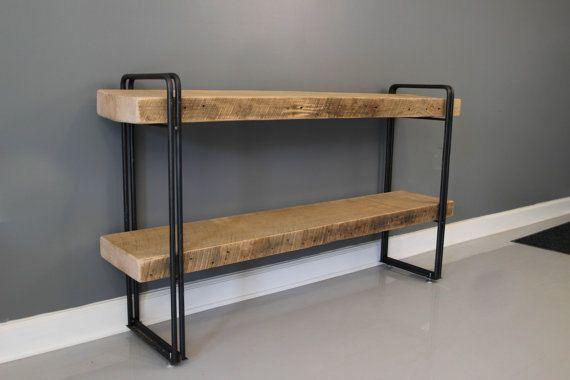 "Reclaimed Barn Wood Urban Style 3"" White Oak Shelf / Shelving Unit - FREE Shipping and LIFETIME Warranty"