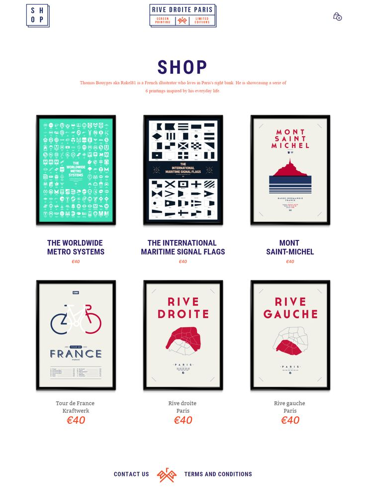 The story of Thomas, a talented illustrator selling cool illustrations on the Rive Droite Paris site, powered by Mr Tailor https://www.getbowtied.com/customer-stories-limited-edition-illustrations-store-rive-droite-paris/?utm_source=pinterest.com&utm_medium=social&utm_content=rive-droite-paris&utm_campaign=customer-stories #illustrations #paris #illustrator #design #wordpress #prints #limitededition #frenchartists